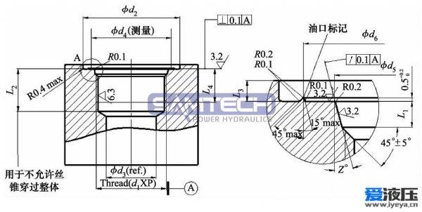 亚博体育手机APP系统密封及管接头油口选择的设计研究